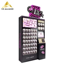 <span class=keywords><strong>OEM</strong></span> Touch Screen Lippenstift Cosmetische Prijs Game Gift Automaten Met Reclame-Display