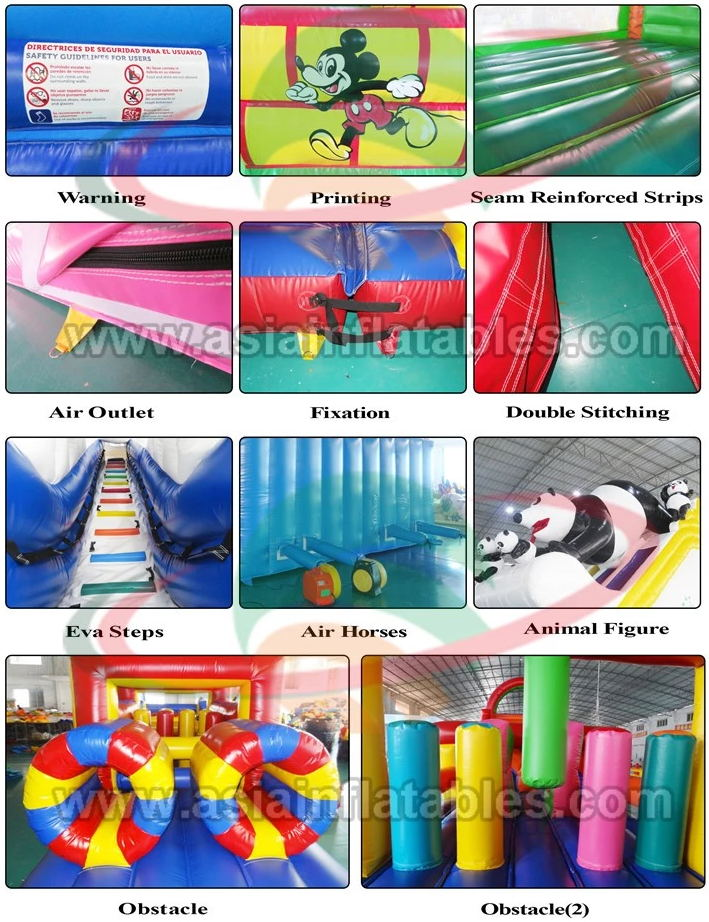 Sports Game 5K Obstacle Running Race Inflatable 5K Obstacle Course for Adults