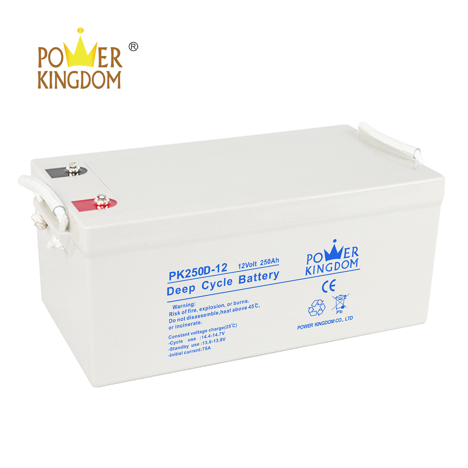 Power Kingdom Top agm 35ah deep cycle battery factory price wind power systems-2