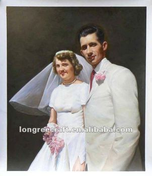 Wedding Portraits Oil Painting On Canvas