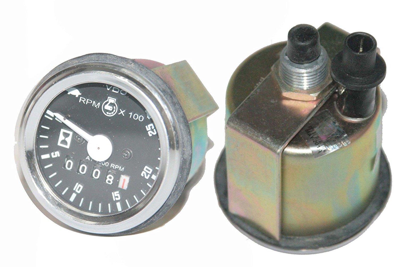 RS Vintage Parts RSV-B00ZFJCFUO-00726 Black Massey Ferguson Tractor Meter Tachometer 265, 275, 290, 565, 575, 590