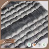 Luxury shaggy faux fur embossed long pile plush fabric for winter coat
