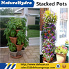 vertical stacking planter hanging pots outdoor