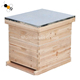 cheap two levels bee hive with metal roof and frames