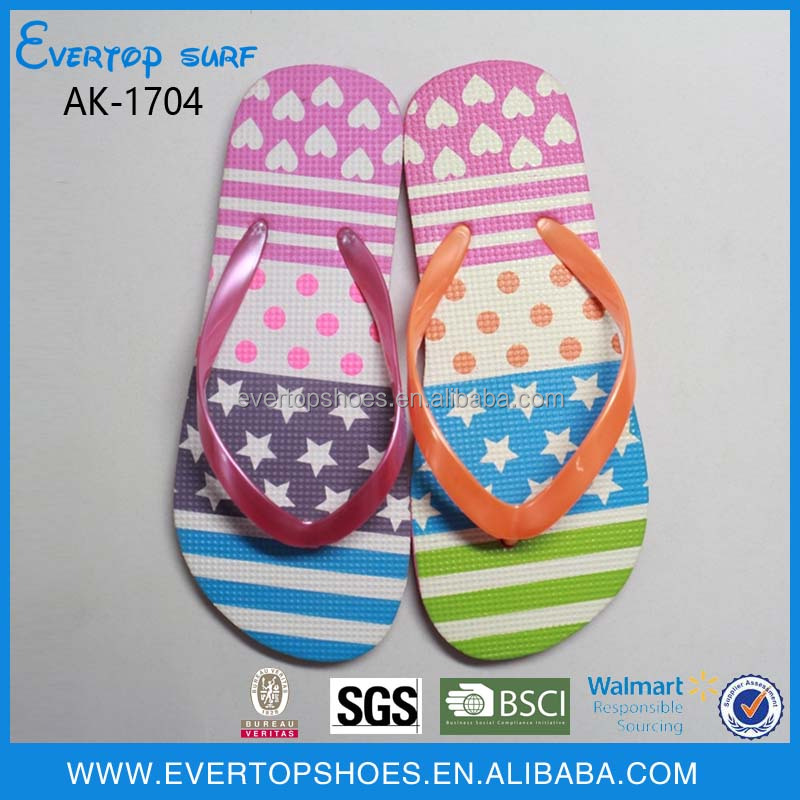 cheap wholesale custom printed pe flip flops