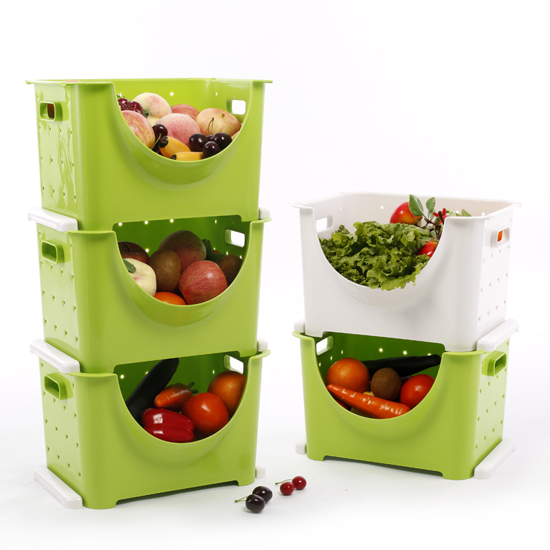 Ikea Three Layer Storage Box Creative Fruit And Vegetable Basket Kitchen Rack