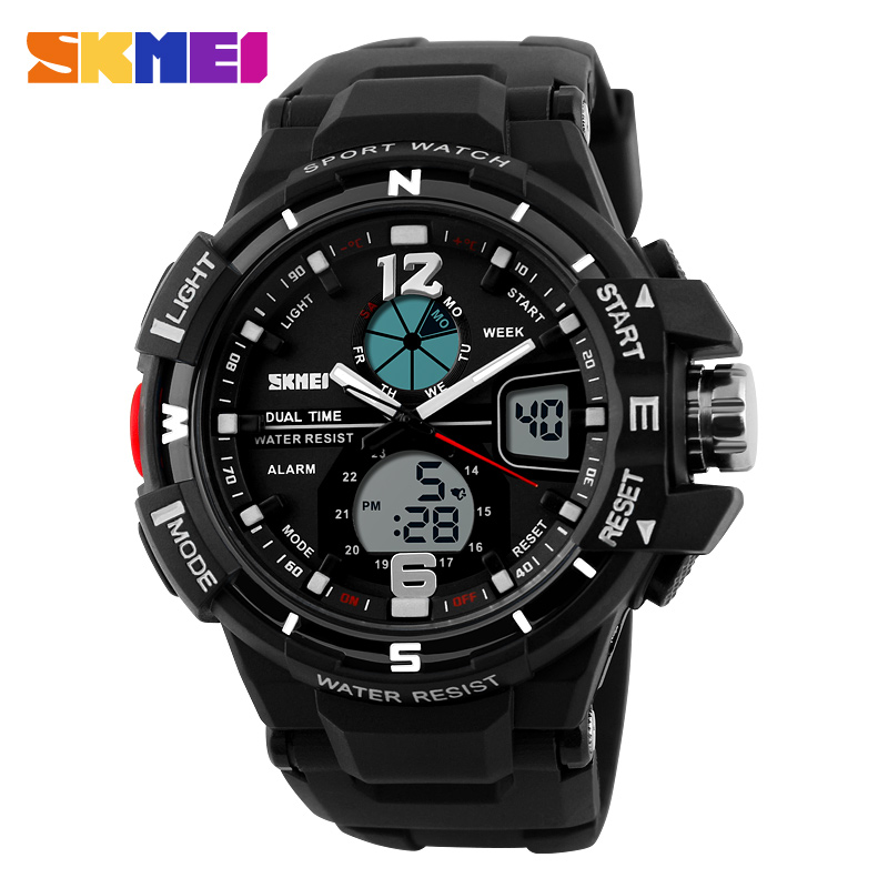 multi-function digital instructions teenage fashion hot promotional waterproof dual time watch