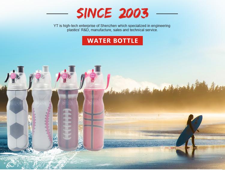Kunststoff Gym Wasserflasche Ball Spiel Trinkwasserflasche Sport Nebel Wasserflasche Mit Stroh