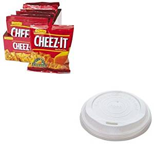 KITKEB12233SVARP11 - Value Kit - NatureHouse Cup Lids for 10-20oz Hot Cups (SVARP11) and Kelloggs Cheez-It Crackers (KEB12233)