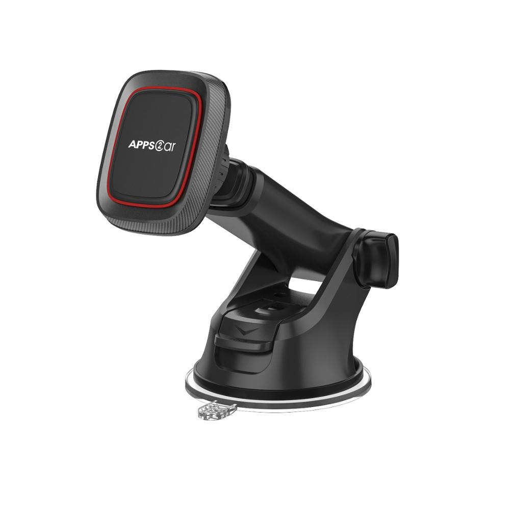 Strong Magnetic Design Telescopic Arm Dashboard Suction Cup Car Mount Magnetic Car Tablet Holder Tablet Stand