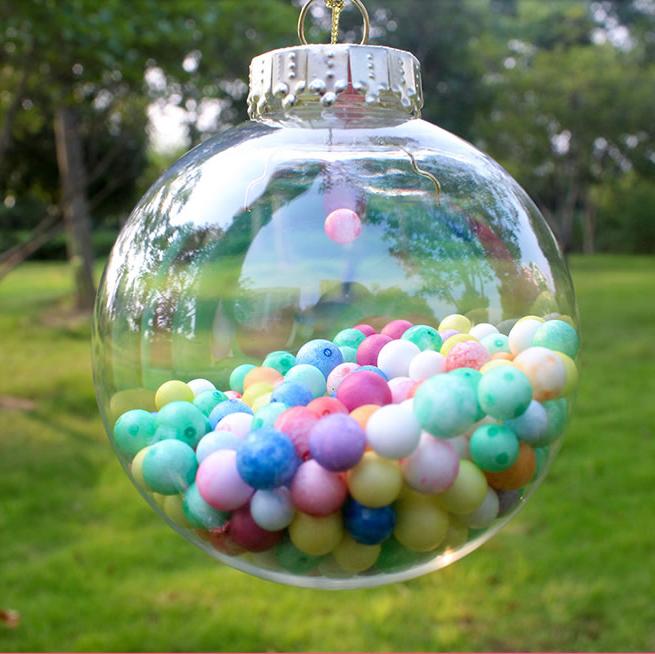 Clear Plastic Balls 6cm 10cm Clear Seamless Plastic Ball Decoration