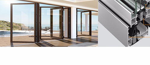 Air tight folding door