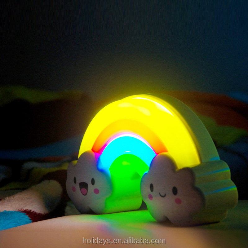 Sound Touch Sensor Rainbow LED Night Light Lamp for Baby, Kids & Children