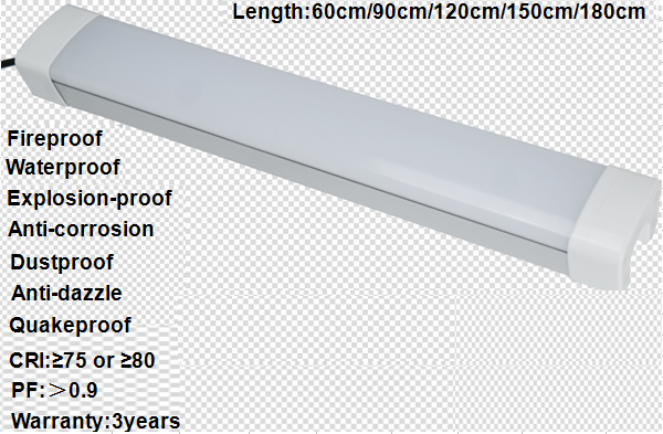 Ip65 2ft 30w Surface Mounted Led Tube Fixture /weather