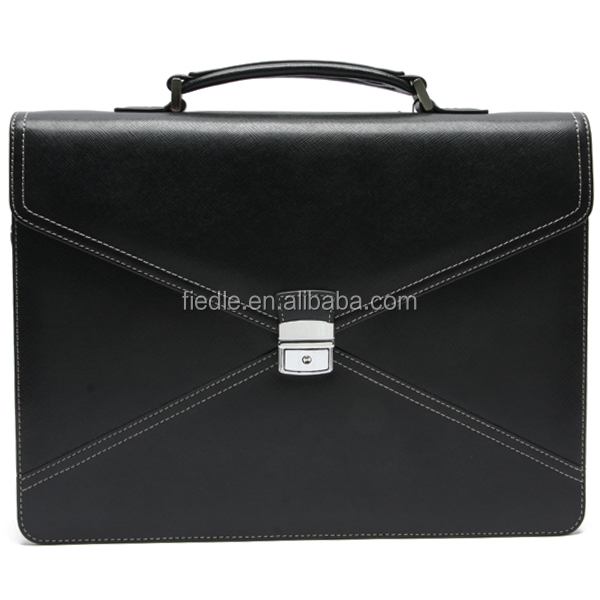 Luxury Cow Leather Office Bags Fashion Design Men Briefcase