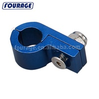 Guangzhou Performance Anodized CNC Machined Billet Aluminum Tube Clip Tools P Type Pipe Line Separators Hose Clamps