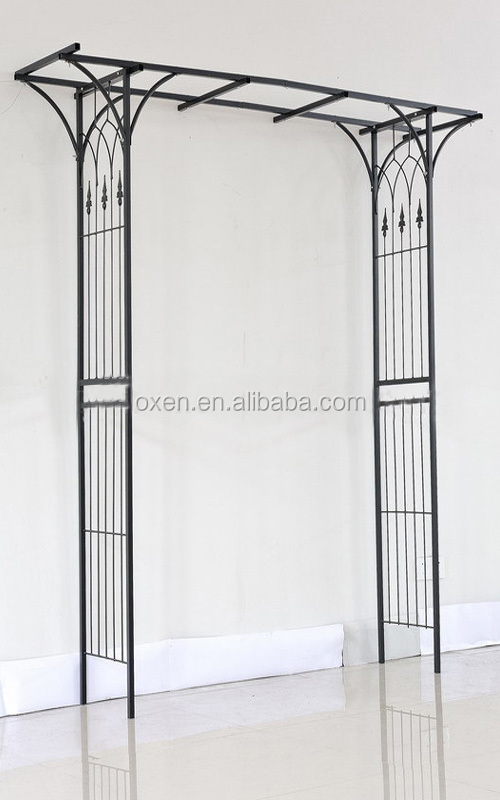 Outdoor Metal Garden Arch With Flat Top Metal Frame Pergola Buy