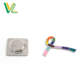OEM professional Zinc Alloy poly paint Cancer caring for shop embossed Collar lapel Magnetic pin
