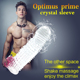 powerful vibrating crystal sleeves condom for male penis