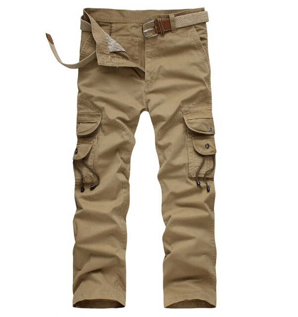 4c72736fe9812 Get Quotations · Male Cotton Tactical Combat Pants Military Army Cargo Pants  overalls Pants Men Multi-Pocket Trousers