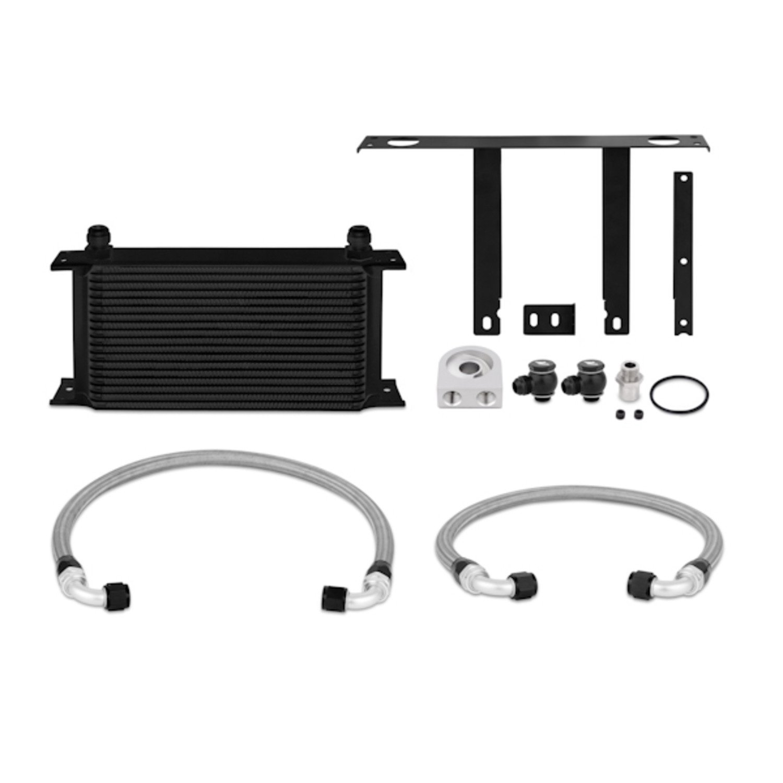 Mishimoto MMOC-GEN4-10BK Black Oil Cooler Kit for Hyundai Genesis Coupe 2.0T