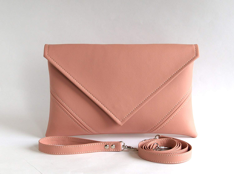 Pink Clutch Bag Handmade Wedding Clutch Purse Bridesmaid Clutch Bridal Clutch Pink Purse Pink Bag Bridesmaid Bag Pink Evening Bag Envelope Purse