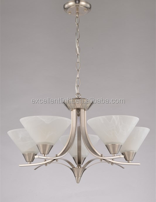 American style graceful light design glass lampshade classic pendant lamp with 5 lights