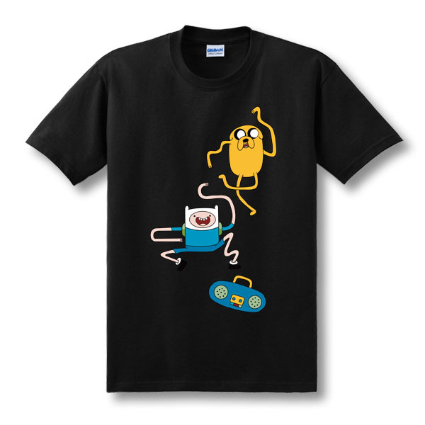 307cd59fe3e9c Get Quotations · Adventure Time T-shirt Jake T Shirt Undershirt Funny  Short-sleeved Tees Casual Men