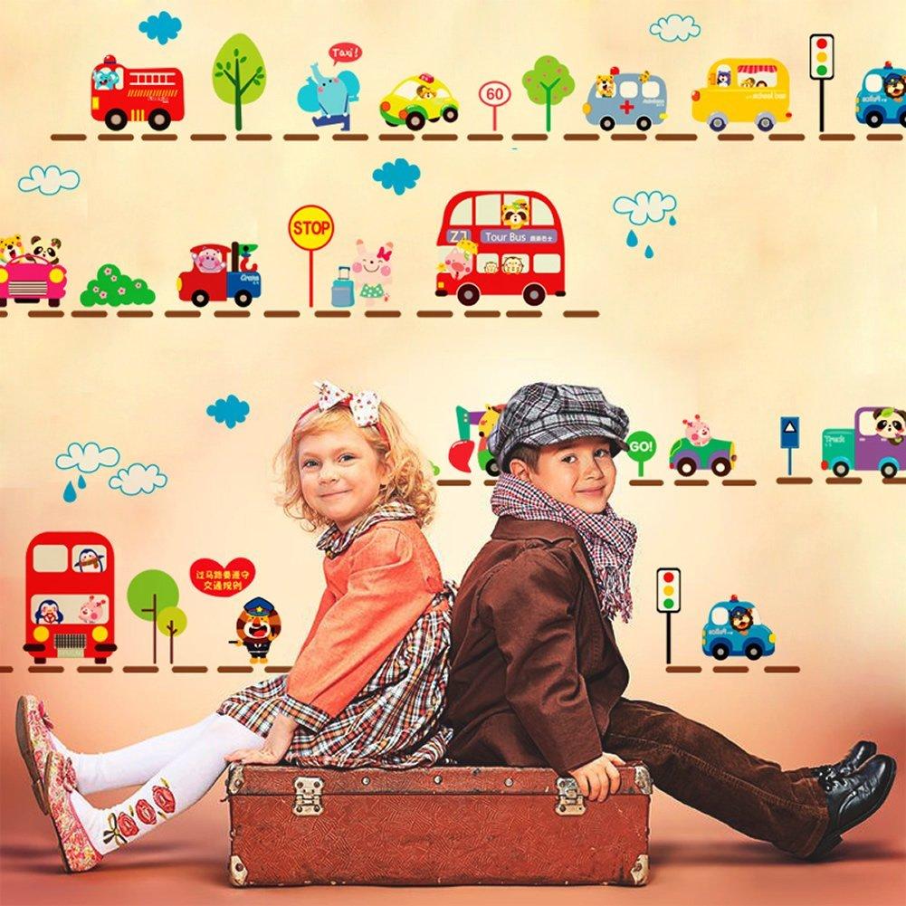 City Transportation Bus Decorative Kids' Room Peel & Stick Wall Art Sticker Decals