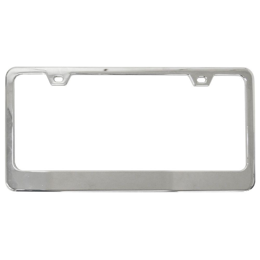 Black Chrome Powder Coated 100/% Stainless Steel License Plate Frame Holder Tag