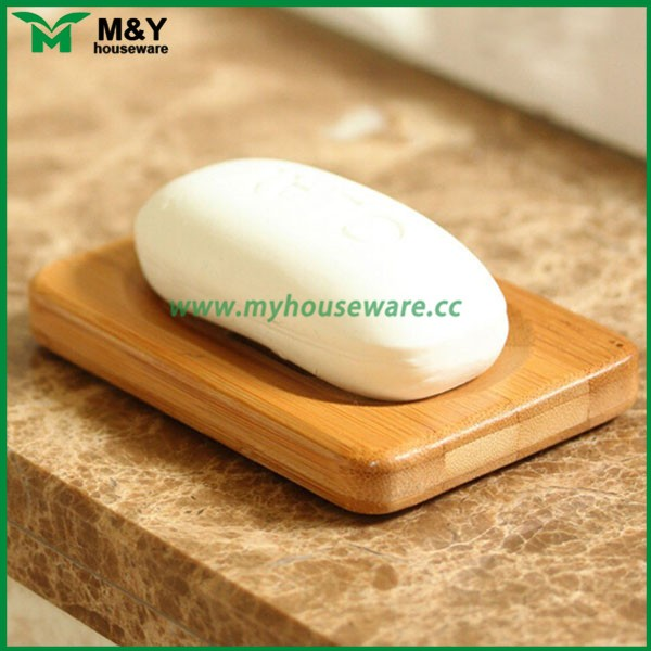 Fujian Youxi bamboo wooden soap dish with non-slip rubber