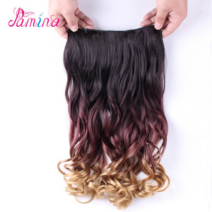 Freetress Water Wave Synthetic Hair Extensions Bright Color Crochet One Piece 5 Clip In Synthetic Hair Extension