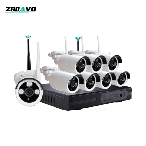 iOS browser viewing Wireless NVR System IR IP camera wi fi kit set 8 channel 720P 1 MP CCTV Security Surveillance