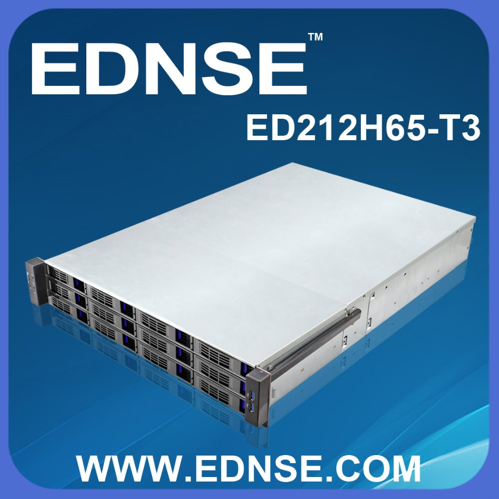 ED212H65 2u 12 bays case with power supply
