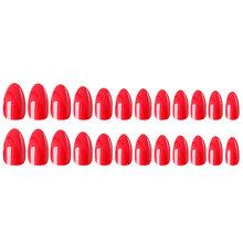 Накладные ногти 24 шт. 12 разных размеров натуральные короткие накладные ногти полностью покрывающие Акриловые искусственные ногти для мани...(Китай)