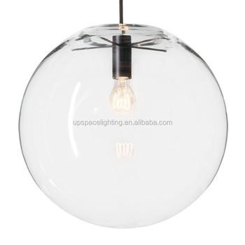 xcp7538) Modern Powder-coated Metal Clear Glass Ball Selene ...