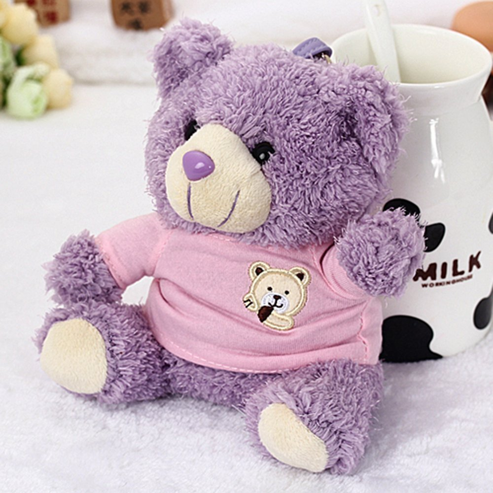 2016 Cute Cartoon Plush Toy Bear Power Bank, Amesica 10000mAh External Battery Backup, Portable Charger Universal Powerbank, Mobile Phone Charger for iPhone 6s, iPhone 7 Plus, iPad & Tablets (Purple)