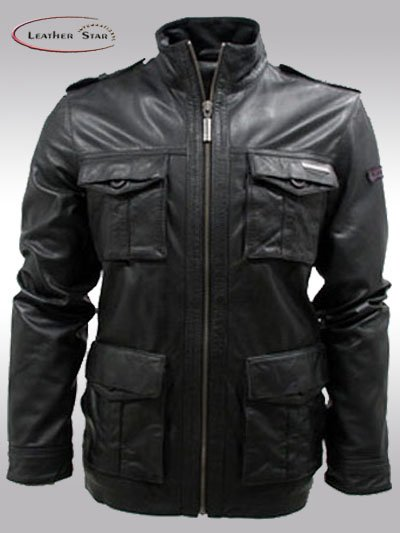 Leather Jacket,Military Style - Buy Fashion Jacket Product on ...