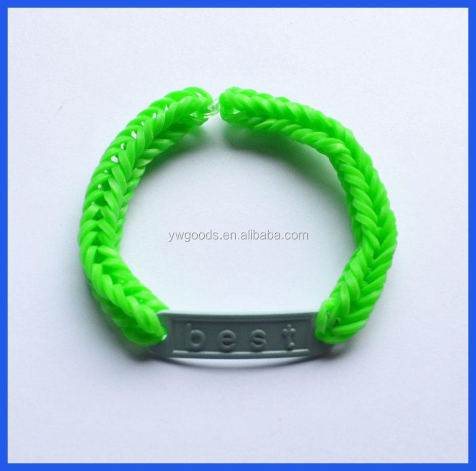 Girls Rubber Bands Diy Charm Elastic Bracelet Making Kit