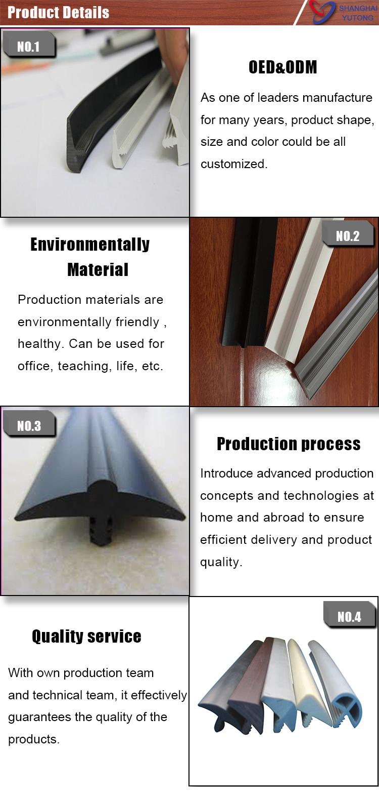 Shanghai factory furniture accessory T molding PVC plastic edge trim
