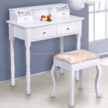 Hedendaags Girls Room Furniture White Wooden Makeup Vanity Table Wholesale QD-32