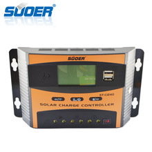 Suoer 12V 24V pwm solar charge controller manual 40A regulator solar charge controller