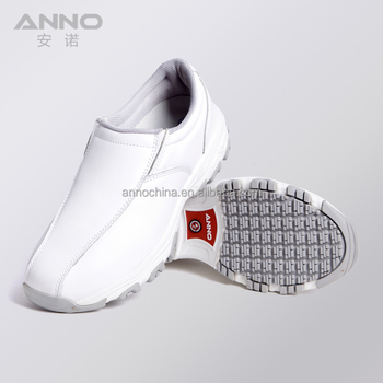 5aa2ad9df4d Nuevo diseño clínica blanco zapatos de cuero de enfermería hombres blanco  ...