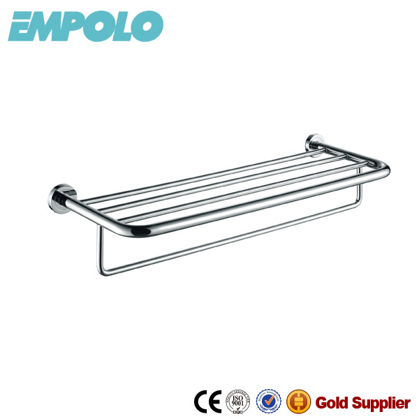 Empolo stainless steel hotel style towel rack, unheated towel rack