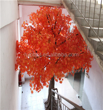 More than 3000 samples customized artificial maple tree with red orange or golden leaf artificial maple tree branches and leaves