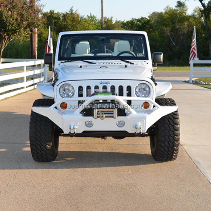 Cos49161pw7 White Color Jeep Front Bumper View Jeep