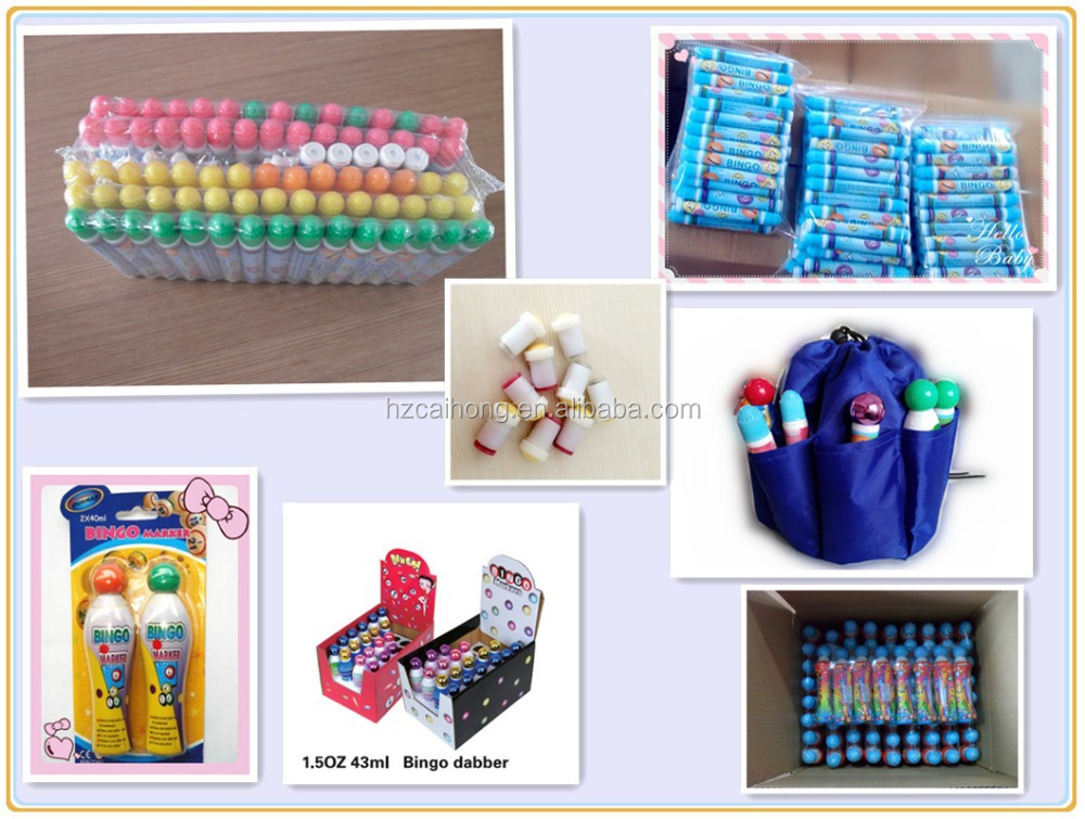 Blister card package Bingo Dabber Set/ Bingo Game Dabber Marker Pen, pens to play Bingo,display package CH2807
