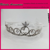 Factory Direct Wholesale rhodium plating wedding Anniversary accessories zircon stone tiaras