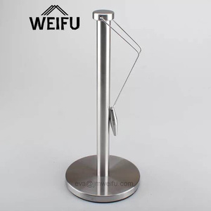 Standing Stainless Steel Metal Paper Towel Holder