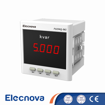PS194Q-9K1 96*96mm single phase digital LED display reactive power meter with rs485